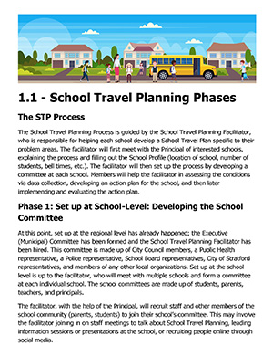 School Travel Planning phases thumbnail