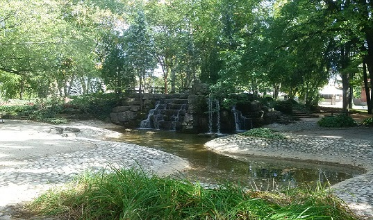 Confederation Park Waterfall